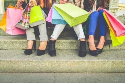 Women Enjoying Hawley Silk Mill Shopping