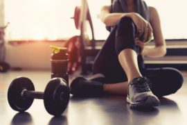 Woman Take a Break From Fitness Routine
